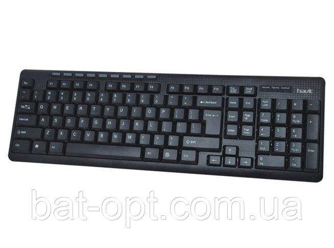 Клавиатура проводная Havit HV-KB312 USB RU мультимедийная