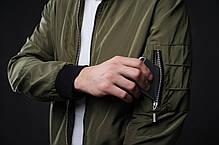 Мужской бомбер Lite Green зеленый, фото 3