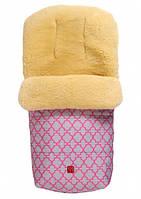 Kaiser - зимний конверт на овчине Natura розовый с арнаментом