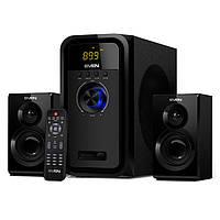 Колонки SVEN MS-2051 Bluetooth чтение SD, USB, FM-радио и часы 55 Вт