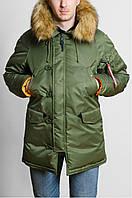 Куртка Аляска мужская на зиму Olymp цвета хаки