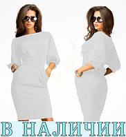 Лаконичное платье-фонарик с карманами и завязками на талии Tailgrass