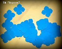 Вырубка гортензии 018 голубой иранский фоамиран