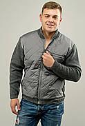 Мужской свитер осенне-весенний на змейке Артем, цвет серый / размерный ряд 50,52, фото 2