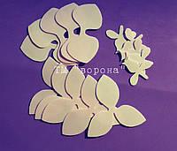 Вырубка орхидеи 008 св.розовый иранский фоамиран