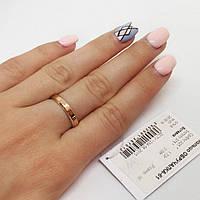 Кольцо серебряное с золотыми накладками Обручалка 61