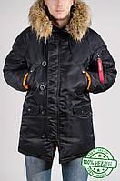 Куртка зимняя мужская Аляска Olymp черная (нейлон)