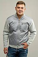 Мужской свитер осенне-весенний на змейке Артем, цвет светло серый / размерный ряд 50,52, фото 2