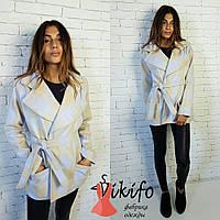 Красивое кашемировое пальто с поясом