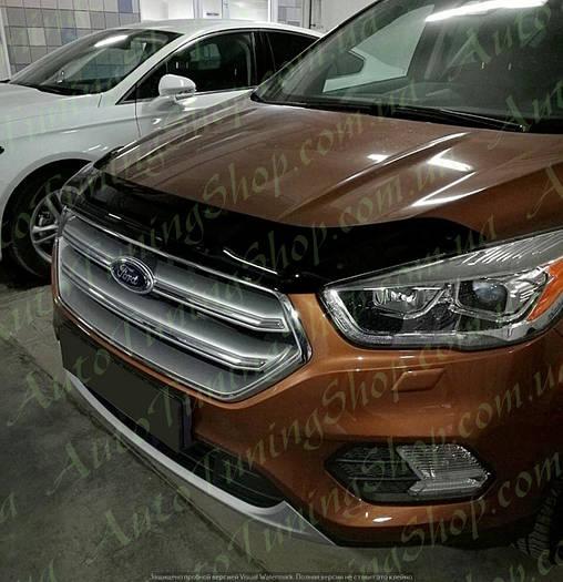Дефлектор капота - мухобойка на капот Ford Kuga 2017+