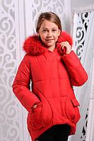 Зимняя  куртка для девочки Марта2 красная