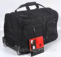 Черная дорожная сумка на колесах фирмы Gorangd