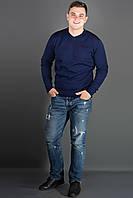 Мужской повседневный свитер Стас, цвет синий / размерный ряд 48,50,52