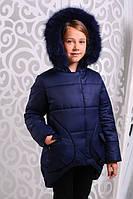 Зимняя  куртка для девочки Марта2 джинс