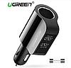 Ugreen Автомобильное зарядное устройство 2 в 1 (два USB-порта и удлинитель)