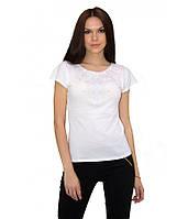 Футболка з машинною вишивкою. Якісні вишиті футболки. Сорочки жіночі. 70dbaaeb1b6d4