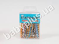 Канцелярская скрепка цветная полосатая 50мм (цена зу упаковку 30шт.) MAH-PINS-017