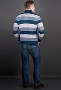 Мужской повседневный свитер в полоску Рубин, цвет синий / размерный ряд 48,50,52, фото 3