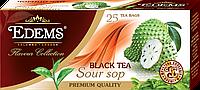 """Черный ароматизированный чай в фильтр-пакетах """"Edems Soursop"""" (25 ф/п)"""