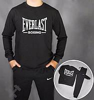 Спортивный костюм Everlast, еверласт, черный, реглан, спортивный, большое лого, в наличии