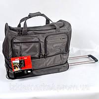 Серая дорожная сумка на колесах фирмы Gorangd