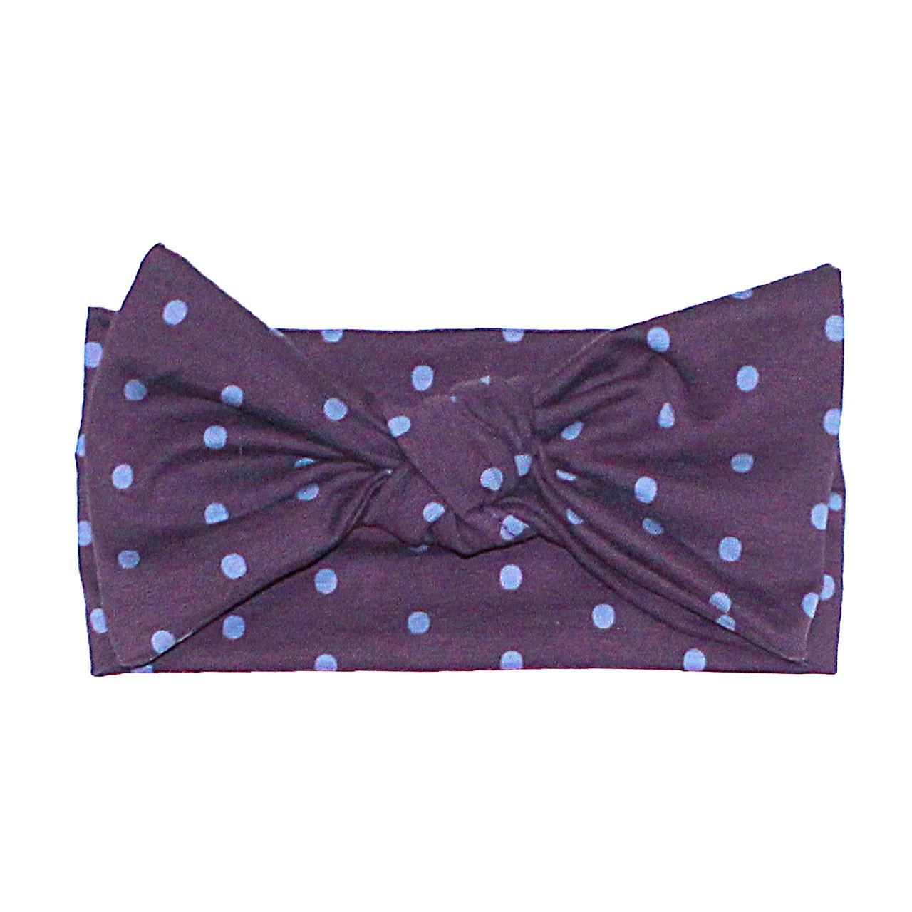 Повязка Andriana Kids фиолетовая в горошек