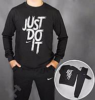 Спортивный костюм Nike, найк, черный, реглан, спортивный, хб, трикотаж, повседневный