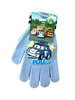 Перчатки для мальчика Робокар Полі 3-6 лет