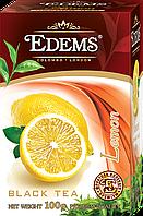 """Черный листовой ароматизированный чай """"Edems Lemon"""", 100г"""