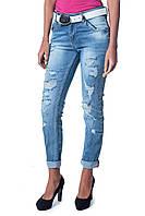 Женские джинсы с аппликацией LIUZIN 3042