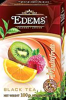 """Черный листовой ароматизированный чай """"Edems Multifruit"""", 100г"""