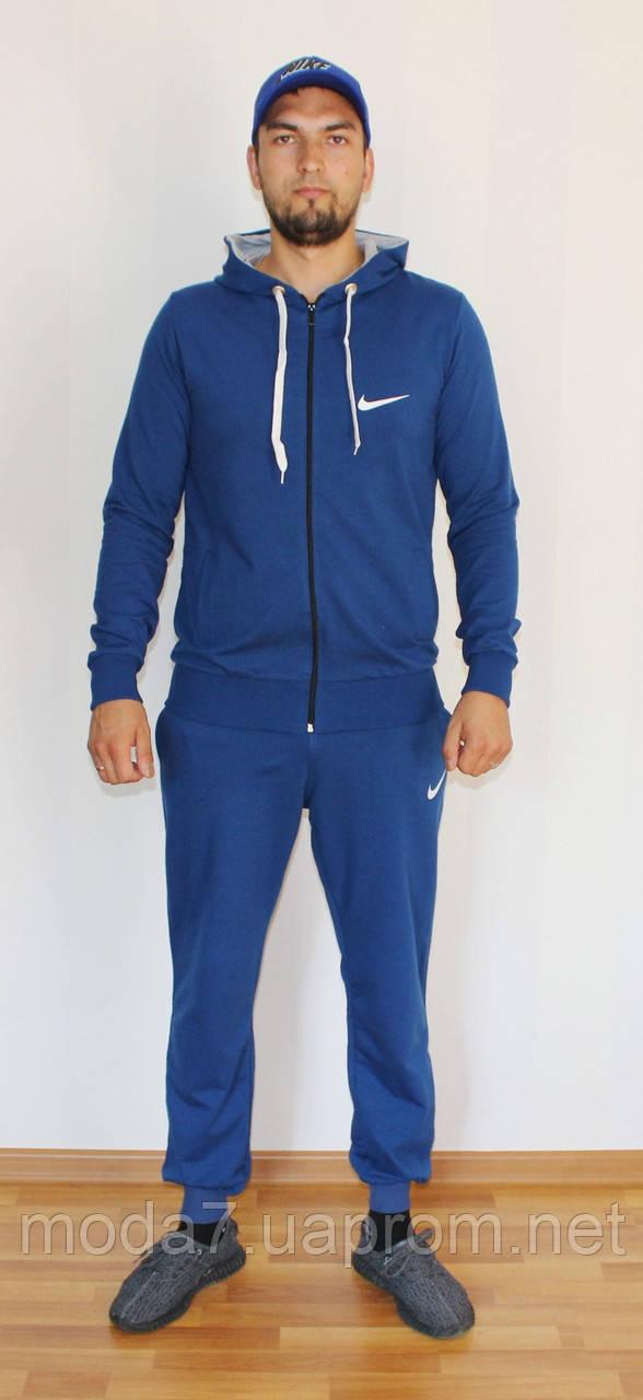Мужской спортивный костюм Nike электрик - синий Турция реплика