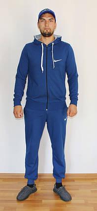 Мужской спортивный костюм Nike электрик - синий Турция реплика, фото 2