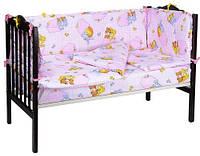 Детское постельное белье в кроватку Кармашки роз, бязь белорусская 100%хлопок