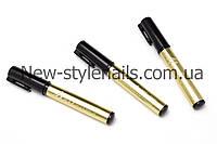 Карандаш-маркер NAIL ART PEN с акриловой краской для рисования, дизайна на ногтях, цвет золото, фото 1