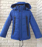 Детская куртка ветровка парка для мальчика 7-8 лет. Демисезонная осень