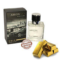 Areon Car Perfume 50ml  Glass Gold
