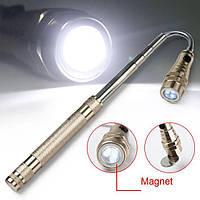 Фонарик телескопический с магнитом 3x LED. Прочный и долговечный для длительного использования. Код: КГ1918