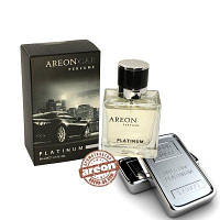 Areon Car Perfume 50ml  Glass Platinum стекло