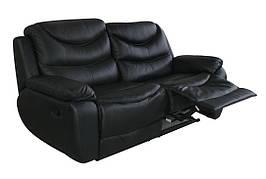 """Стильний шкіряний диван з реклайнером """"NEVADA"""" (Невада)"""