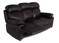 Кожаный диван реклайнер Orlando, диван реклайнер, мягкий диван, мебель из кожи, диван