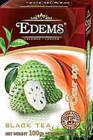 """Черный листовой ароматизированный чай """"Edems Soursop"""", 100г"""