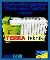 Стальной радиатор TERRA teknik 300x600 тип 22 боковое подключение