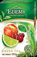 """Зеленый листовой ароматизированный чай """"Edems Multifruit"""", 100г"""