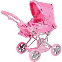 Коляска для кукол 9346 Melogo трансформер розового цвета