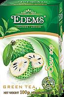 """Зеленый листовой ароматизированный чай """"Edems Soursop"""", 100г"""