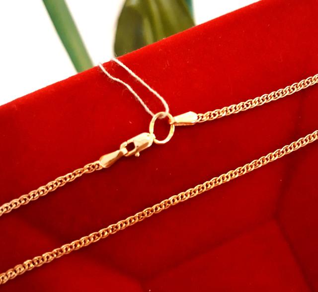 Легкая золотая цепочка Нонна ширина 2 мм фото