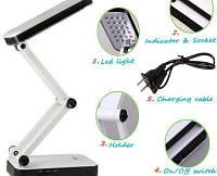 Настольная лампа трансформер 24 led YU666