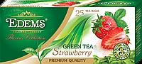 """Зеленый ароматизированный чай в фильтр-пакетах """"Edems Strawberry"""" (25 ф/п)"""
