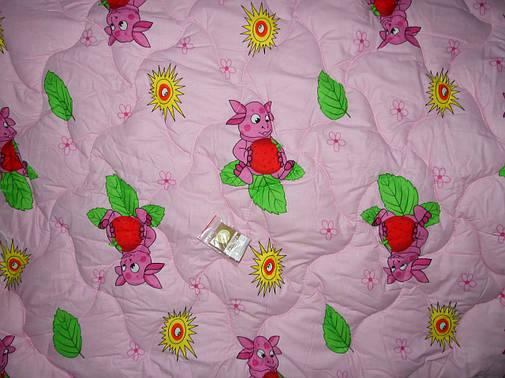 Одеяло детское силиконовое + подушка 110*140 поликотон (2900) TM KRISPOL Украина, фото 2